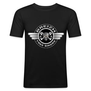 Breizh Bikers - Tee shirt près du corps Homme