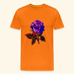 Rose bleue ,rouge, rose  - T-shirt Premium Homme