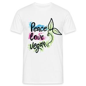 Peace love vegan - Men's T-Shirt