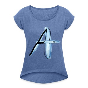 A - Women's T-shirt with rolled up sleeves