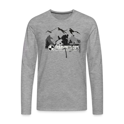 Action Long Sleeve - Dark shoulder logo - Mannen Premium shirt met lange mouwen