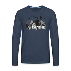 Action Long Sleeve - Shoulder logo - Mannen Premium shirt met lange mouwen