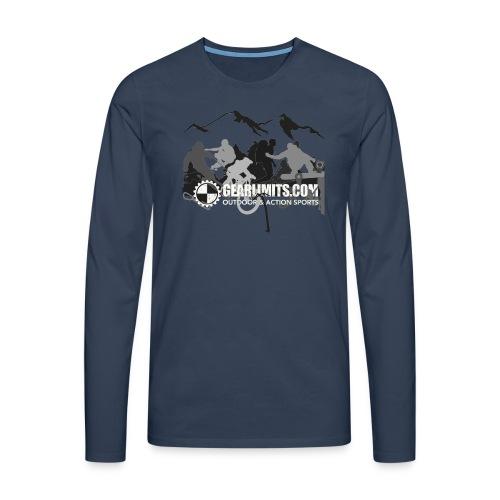 Action Long Sleeve - Shoulder logo - Mannen Premium shirt met lange mouwen