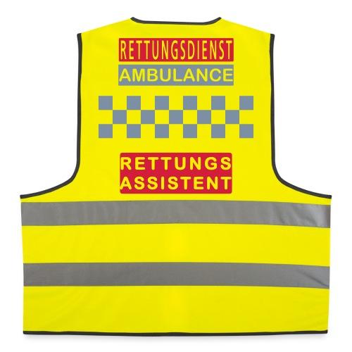 Kennzeichnungsweste Rettungsassistent - Warnweste