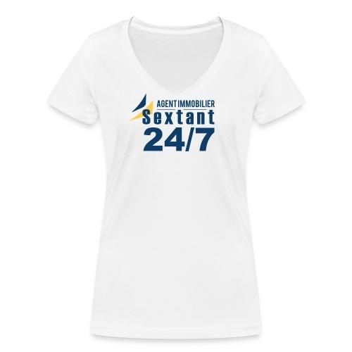 T-Shirt femme Sextant France - T-shirt bio col V Stanley & Stella Femme