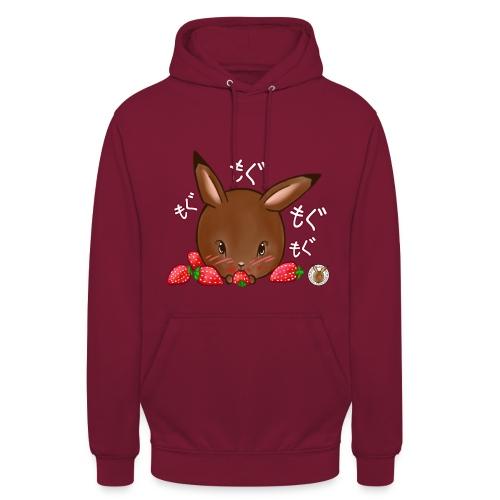 Dames hoodie: Mama Rond Konijn - Aardbei - Hoodie unisex