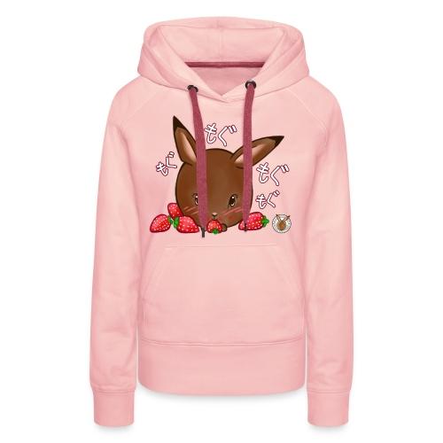 Dames hoodie: Mama Rond Konijn - Aardbei - Vrouwen Premium hoodie