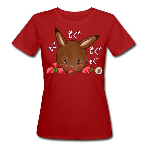 Dames shirt: Mama Rond Konijn - Aardbei - Vrouwen Bio-T-shirt