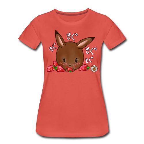 Dames shirt: Mama Rond Konijn - Aardbei - Vrouwen Premium T-shirt