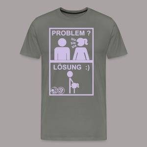 Problem Lösung - Männer Premium T-Shirt