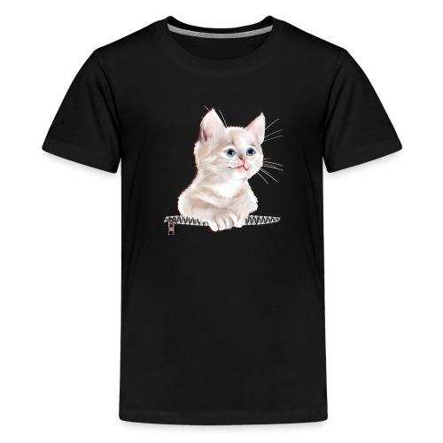 Sweet Pocket Kitten - Teenage Premium T-Shirt