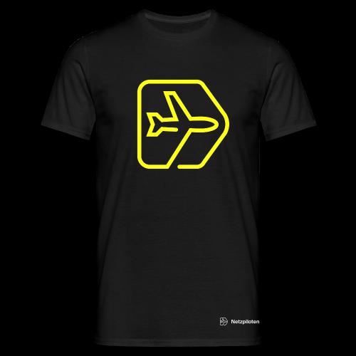Männer-Shirt Netzpiloten Classic Neon Line - Männer T-Shirt