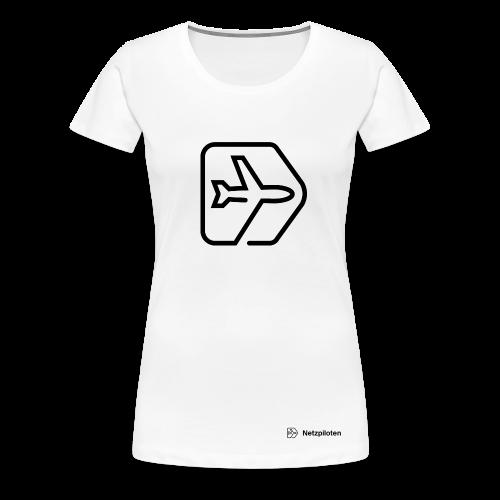 Frauen- Shirt Netzpiloten Classic Black Line - Frauen Premium T-Shirt