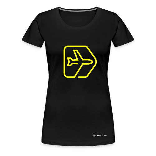 Frauen-Shirt Netzpiloten Classic Neon Line - Frauen Premium T-Shirt
