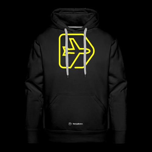 Männer - Hoodie Netzpiloten Classic Neon Line - Männer Premium Hoodie