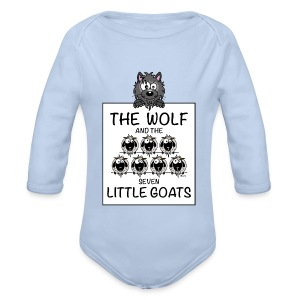 Body ml The Wolf & The 7 Little Goats, Kidcontest - Body bébé bio manches longues