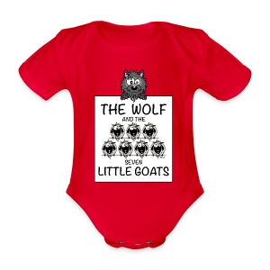 Body The Wolf & The 7 Little Goats, Kidcontest - Body bébé bio manches courtes