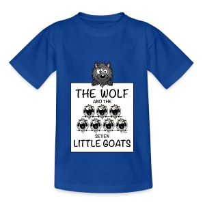 T-shirt Enfant The Wolf & The 7 Little Goats, Kidcontest - T-shirt Enfant