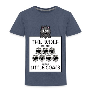 T-shirt P Enfant The Wolf & The 7 Little Goats, Kidcontest - T-shirt Premium Enfant