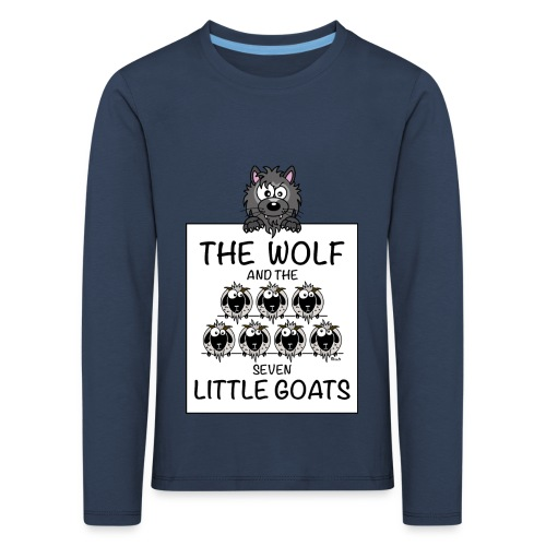 T-shirt ml P Enfant The Wolf & The 7 Little Goats, Kidcontest - T-shirt manches longues Premium Enfant