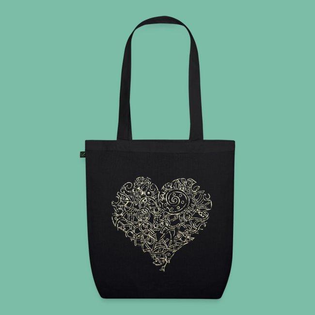 sac coton bio badoulière coeur celte