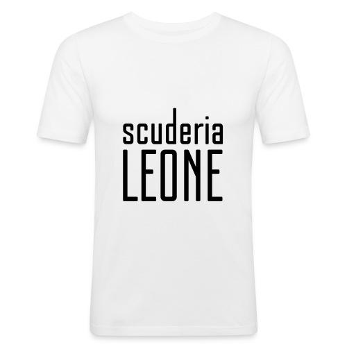 Scuderia Leone BLACK_white Slimfit - Men's Slim Fit T-Shirt
