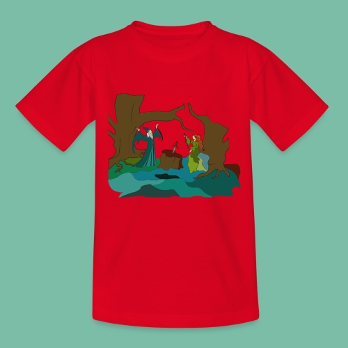 Tee shirt Enfant Merlin & Viviane Brocéliande Spirit - T-shirt Enfant