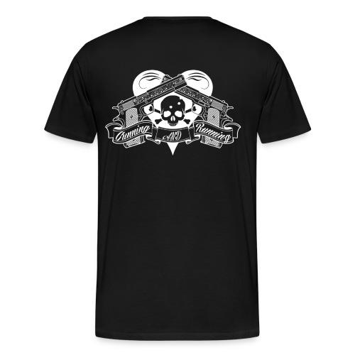 GUNNING AND RUNNING - Premium-T-shirt herr