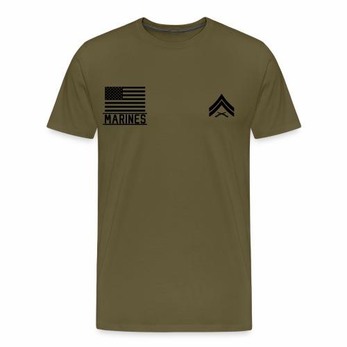 Corporal Cpl US Marines, Mision Militar ™ - Men's Premium T-Shirt