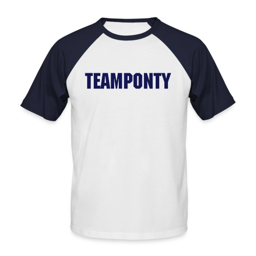 TeamPonty - short baseball, black - Men's Baseball T-Shirt