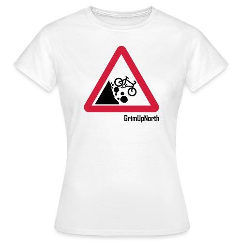 Falling Mountain Bikers - Women's T-Shirt