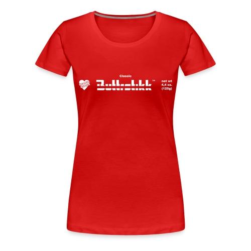 Buttrstikk Bar, rot - Frauen Premium T-Shirt