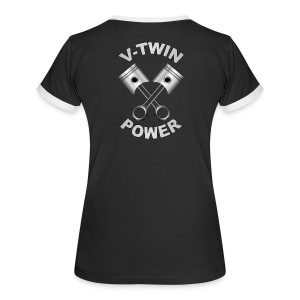 V-Twin engine power - T-shirt contraste Femme