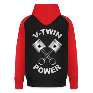 V-Twin engine power - Sweat-shirt baseball unisexe