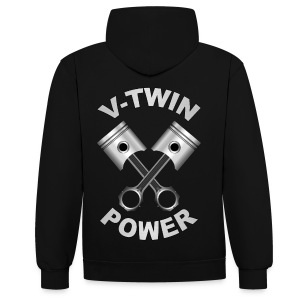 V-Twin engine power - Sweat-shirt contraste