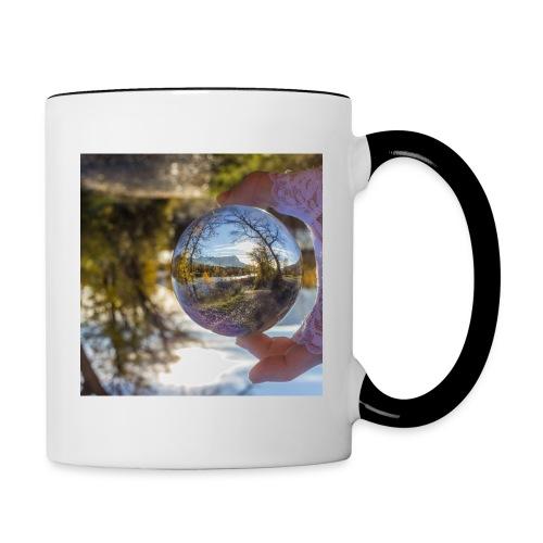 La Durance dans une boule de cristal - Mug contrasté