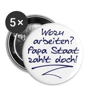 Papa Staat - Buttons groß 56 mm