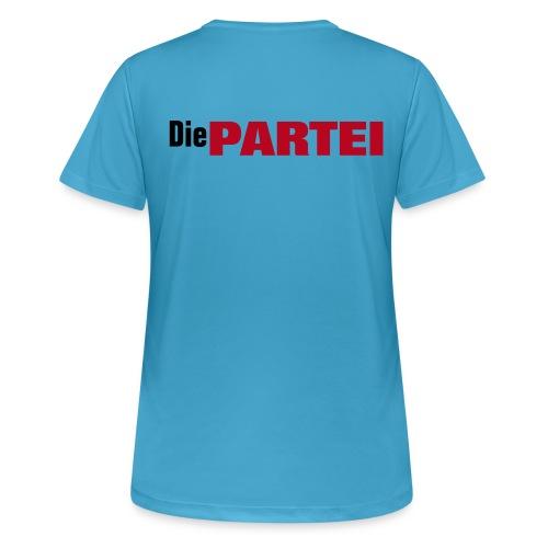 LadiesCut PARTEI Krawattenshirt - Frauen T-Shirt atmungsaktiv