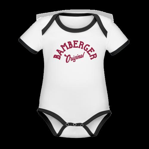 Bamberger Original - Kurzarm-Body von Sonar - 100% Bio-Baumwolle - #SERS - Baby Bio-Kurzarm-Kontrastbody