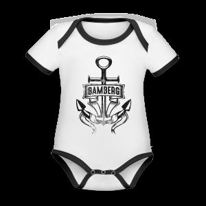 Bamberger Anker - Kurzarm-Body von Sonar - 100% Bio-Baumwolle - #SERS - Baby Bio-Kurzarm-Kontrastbody