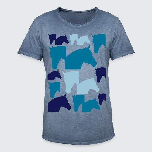 Pferdekopf-Collage-2 - Männer Vintage T-Shirt