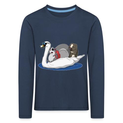 The Pudgy Squirrel - Swan Langarmshirts - Kids' Premium Longsleeve Shirt