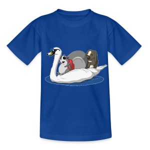 The Pudgy Squirrel - Swan T-Shirts - Kids' T-Shirt