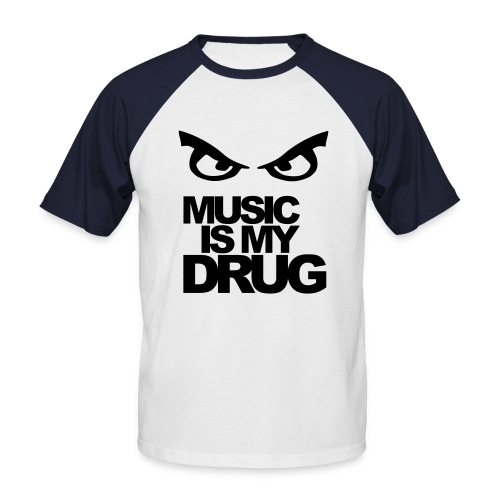 eye of music drug - Men's Baseball T-Shirt