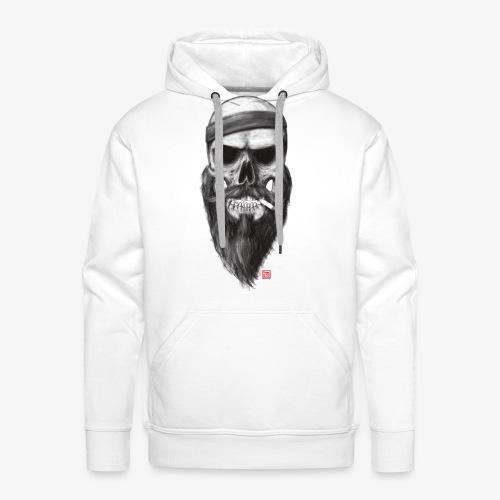 Skull with a 80s Headband - Boy - Männer Premium Hoodie