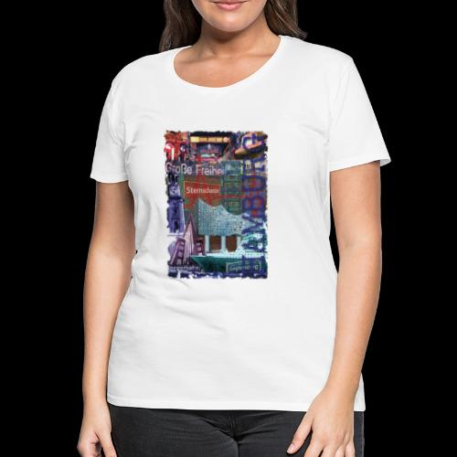 Hamburg HIGHLIGHTS Collage  - Frauen Premium T-Shirt
