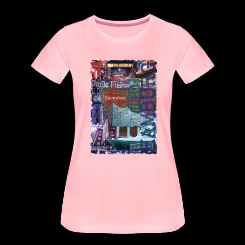 Hamburg HIGHLIGHTS Collage  - Frauen Premium T-Shirt