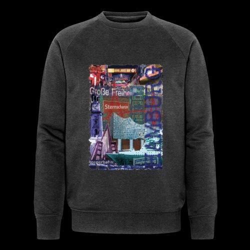 Hamburg Highlights: Künstler-Motiv - Männer Bio-Sweatshirt von Stanley & Stella