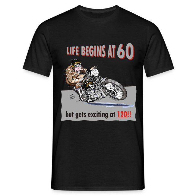 Life begins at 60 biker birthday t-shirt
