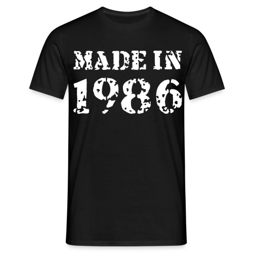 made in 1986 - T-skjorte for menn